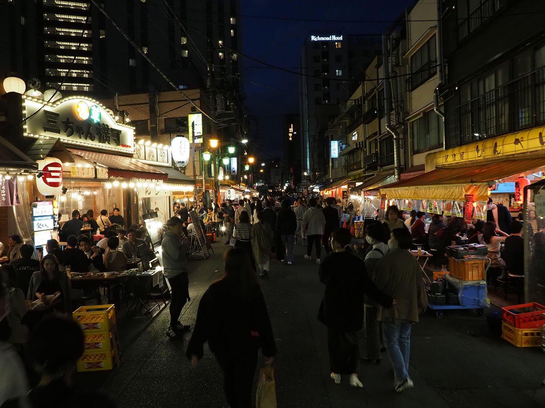 浅草夜のホッピー通り