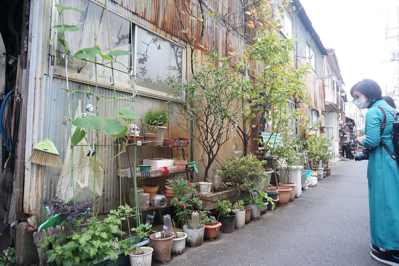 「自分の生活を楽しくするため」「周囲を歩く人の目を楽しませるため」に置かれた路上の園芸。こちらは村田さんの取材時に押上で見かけた光景だ。