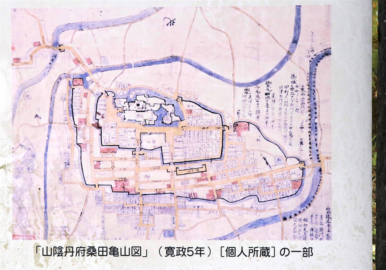 江戸後期の絵図。