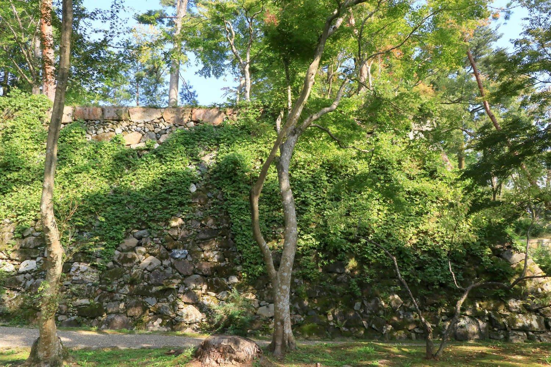 """真正面から見ると、まさに""""石の壁""""そのもの。"""