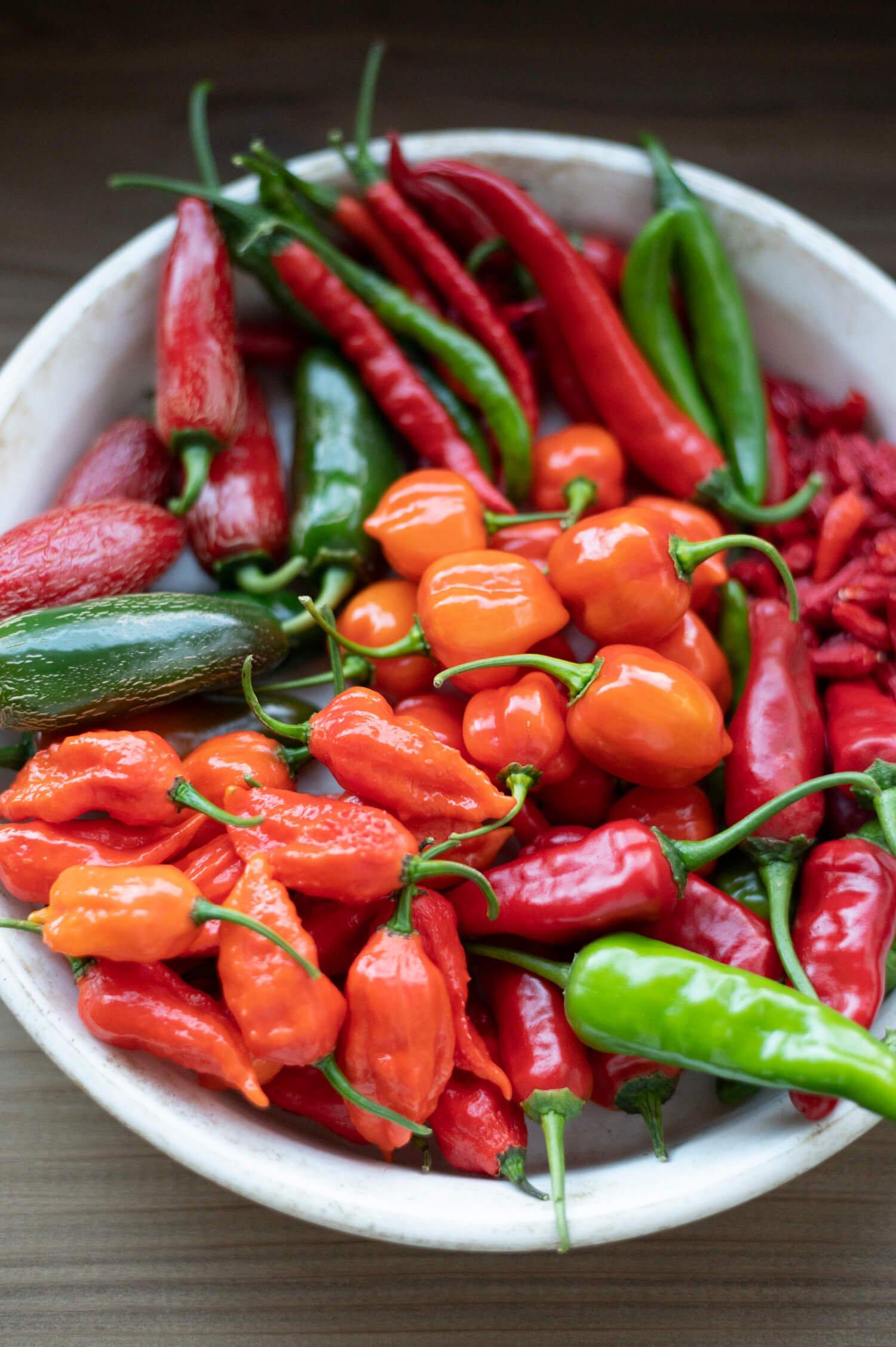 ハバネロ、ブート・ジョロキアなど世界のトウガラシも栽培、ピザ用オイルも作る。野菜直売あり。