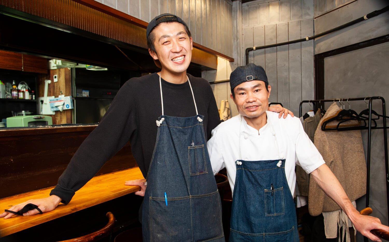 田中さん(左)とビンさん。