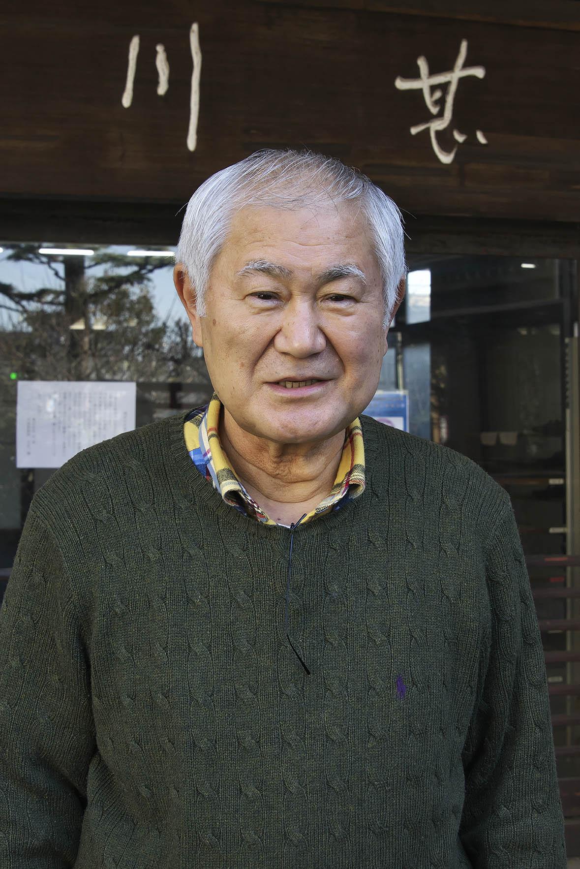 川魚料理「川甚」8代目社長天宮一輝さん。一族で230年余の歴史を守り抜いてきた。