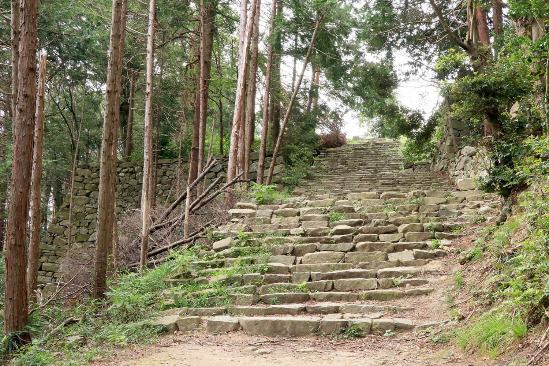 信忠邸跡から数m登ってゆく。