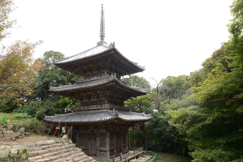 摠見寺三重塔。国の重要文化財。