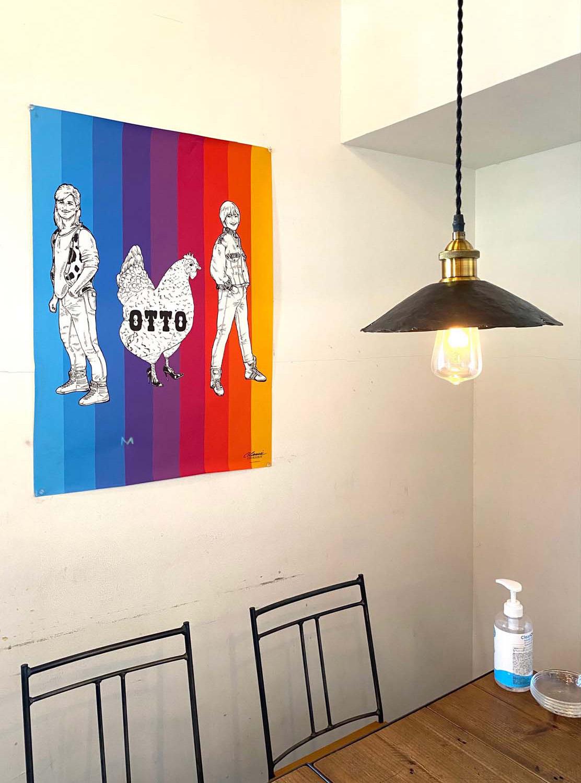 『OTTO』オリジナルポスター。よく見ると鶏がハイヒールを履いている。