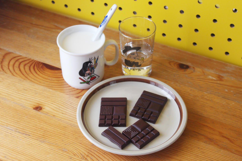 牛乳と板チョコと焼酎のみ。