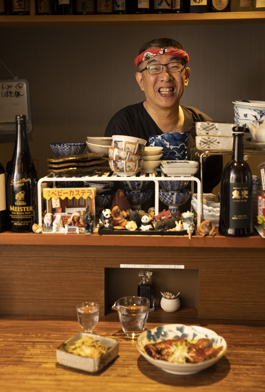 気さくな店主の老田岳志さん。