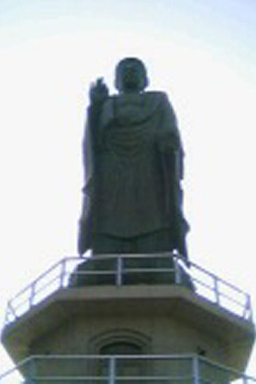 ツーリングで訪れた大仏。滋賀県長浜市の長浜びわこ大仏(高さ28m)(2005年)