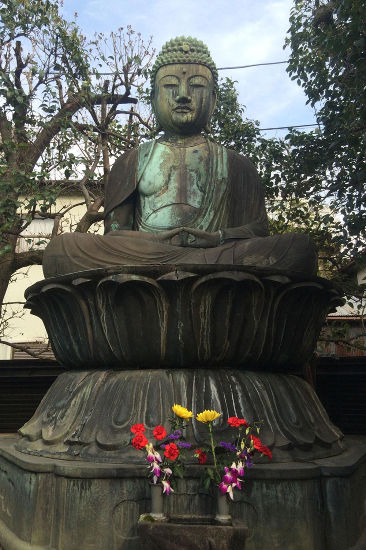 西迎寺の阿弥陀如来像(2017年)