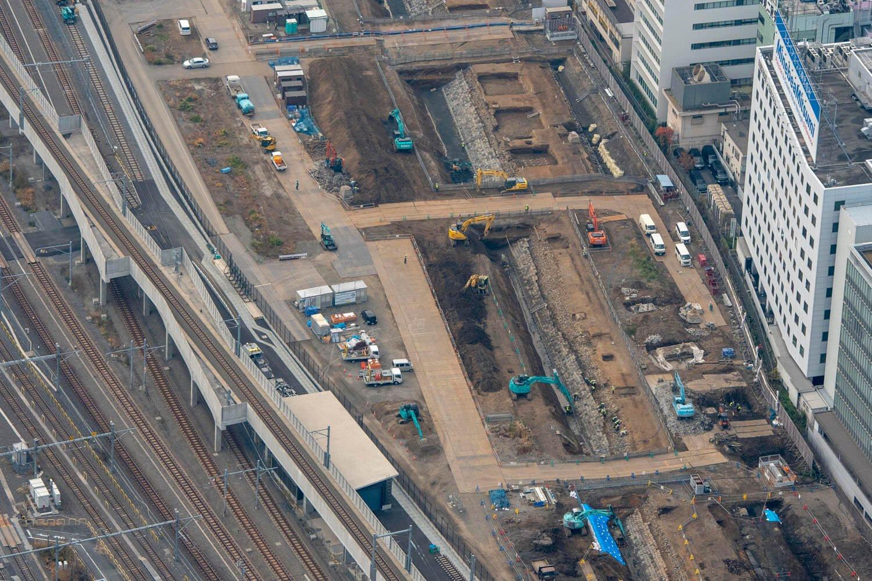 京浜東北線の高架部分から望めるのはこの辺り。田町駅寄りである。