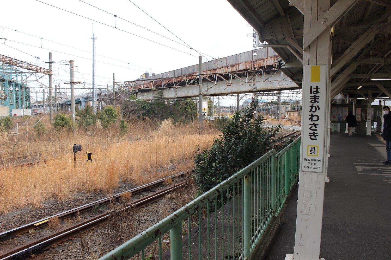 ホームからの景色。神奈川県川崎市とは思えない