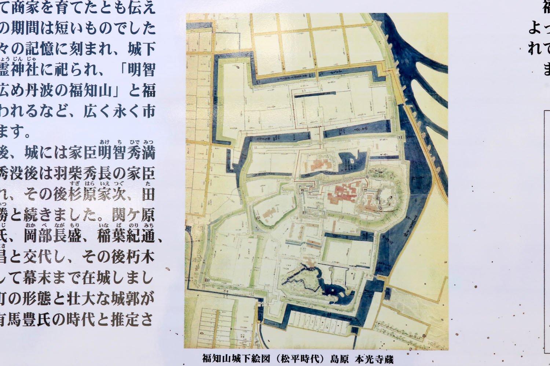 中央が城の中枢部。