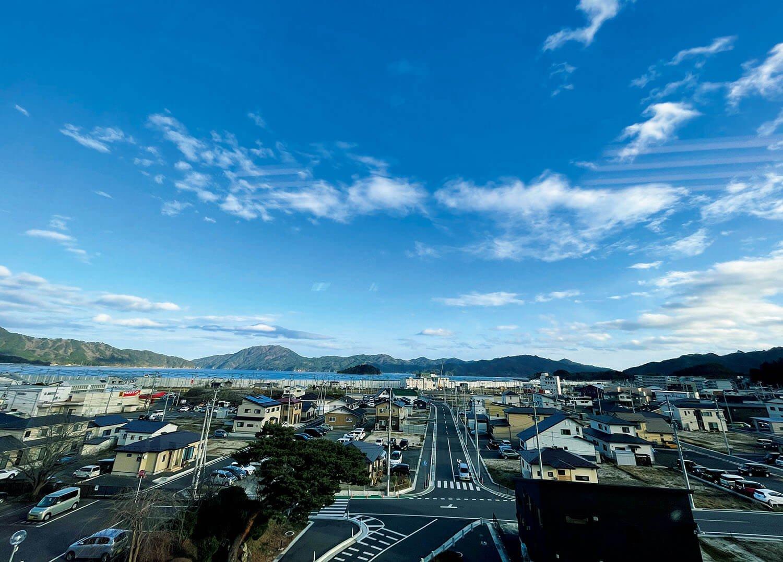道路が新しく整備され、家も建ち、復興へ着実に歩みを進める山田町。