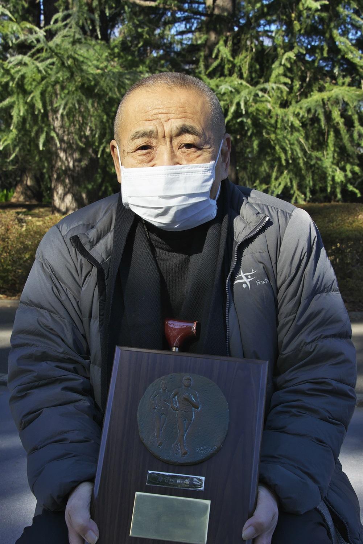 津田昭彦さんは元旦競歩創始者の父・直彦氏の競歩普及の偉業を後世に伝えるため「津田直彦賞」を、私費で20年間授与し続けた。