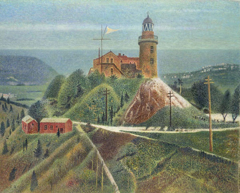 岡鹿之助《燈台》昭和42年(1967)油彩、キャンバス ポーラ美術館蔵