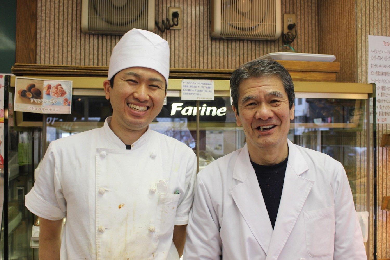 左が山崎裕太さん。右が三代目の山崎尚宏さん。