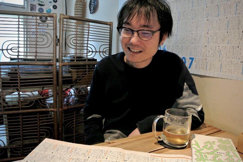 パンスさんの年表が店内に貼られている世田谷区の『バレアリック飲食店』にて。