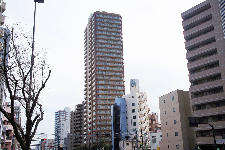 29階建・190戸のタワーレジデンス「グローリオタワー巣鴨」。