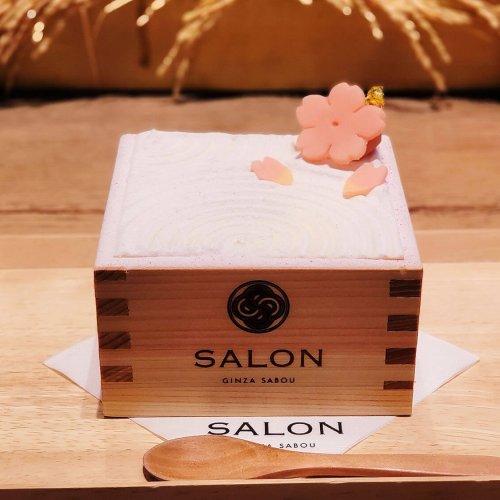 桜満開! 日本庭園をイメージした和のサクラパフェを楽しむ『SALON GINZA SABOU』~黒猫スイーツ散歩 銀座編...