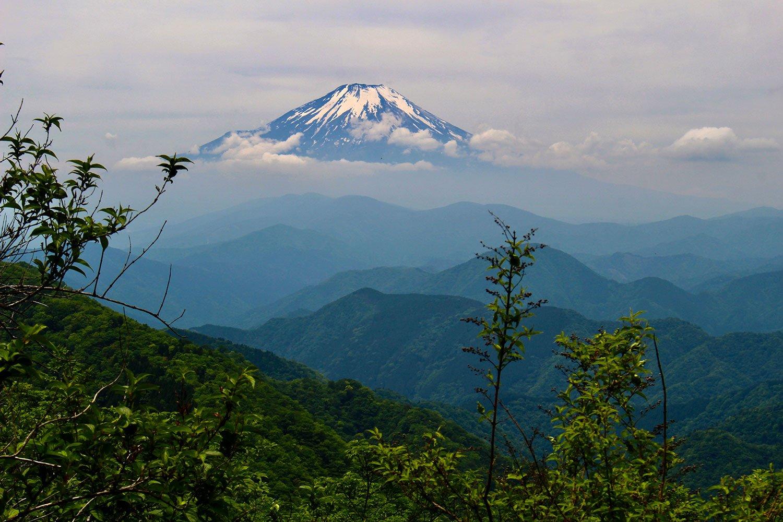鍋割山荘 富士山
