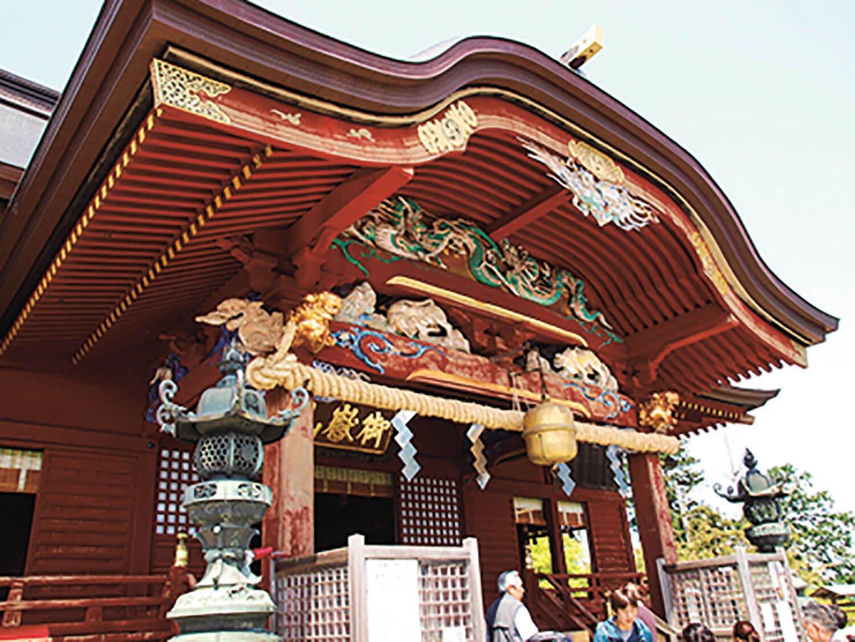 御岳山の山頂にある武蔵御嶽神社。