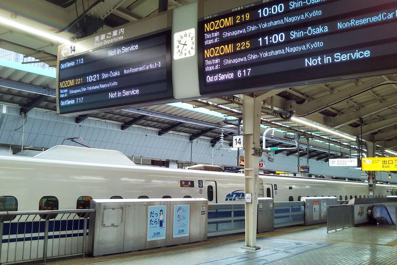 第43作で満男と泉ちゃんの出立シーンおよび寅さんの妄想の舞台となった東京駅東海道新幹線ホーム。当時の車両は0系だったけど、今やN700系。時代ですな。