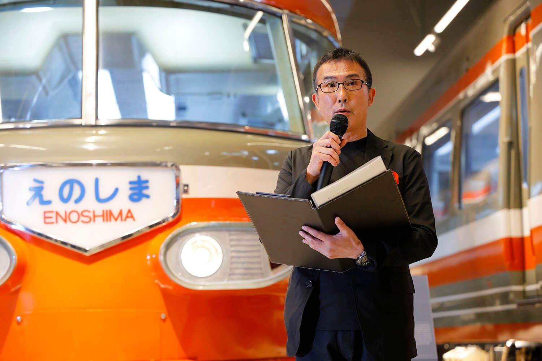 『ロマンスカーミュージアム』館長の高橋孝夫さん。