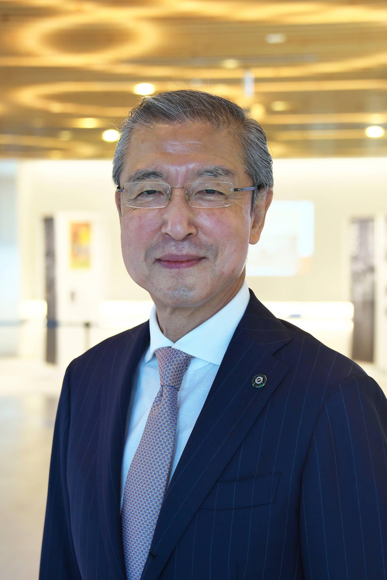 「日本ライフル射撃協会会長の松丸喜一郎さん。JOC副会長でもある。