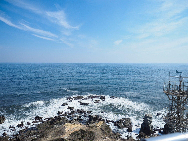 灯台のバルコニーから爽快な眺め。