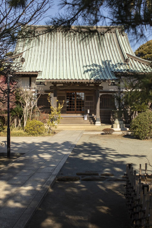 階段の上にある本瑞寺。散歩道からは城ケ島や橋、港が一望できる。