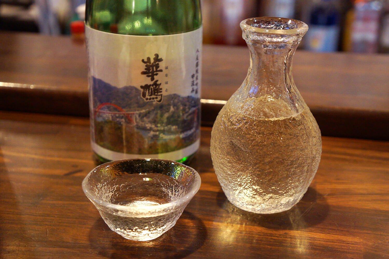 華鳩 純米吟醸中汲み(1合)550円