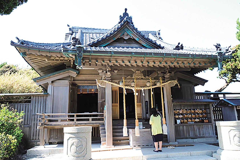 800年以上の歴史がある、森戸神社。