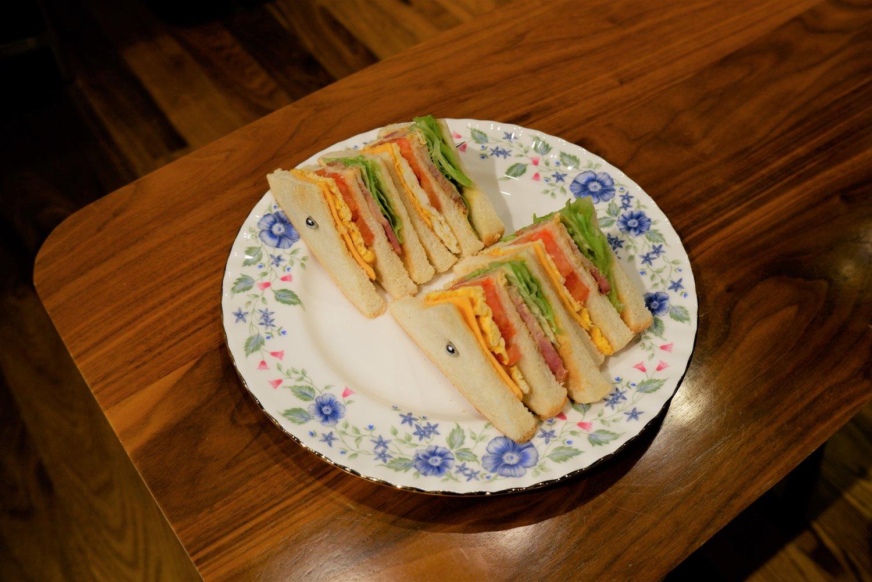 クラブサンドイッチ600円。