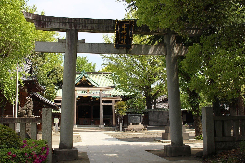 隅田公園内にある牛嶋神社。
