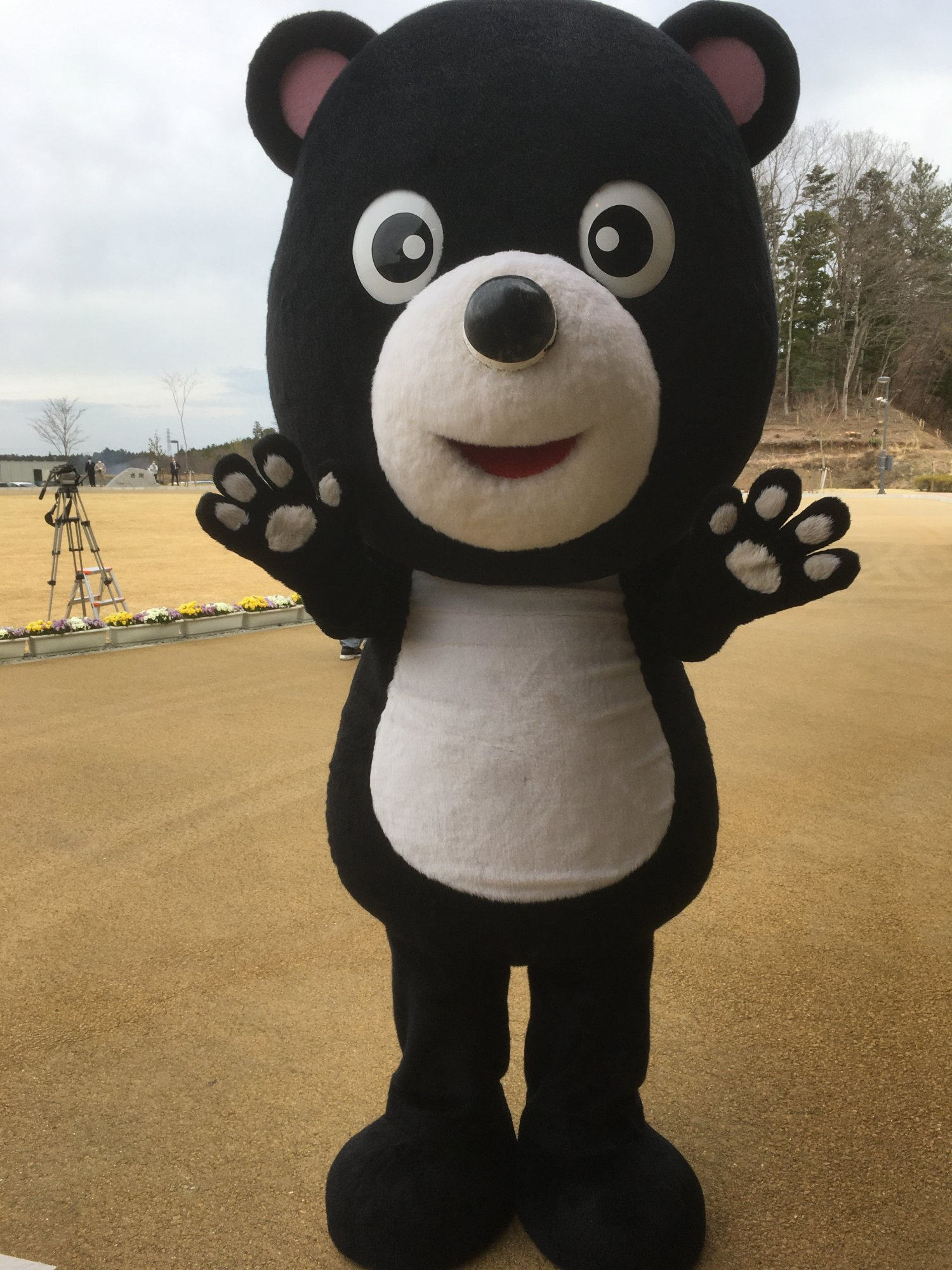 大熊町のマスコットキャラクター「まあちゃん」。 震災後は避難で離れ離れになった町民の絆維持に奔走中なのだとか。