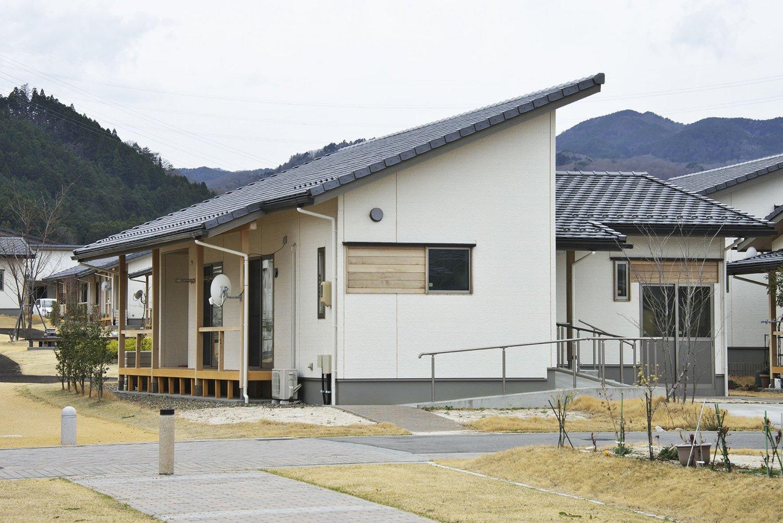 大川原地区に建ち並ぶ災害公営住宅。住みやすそうだ。