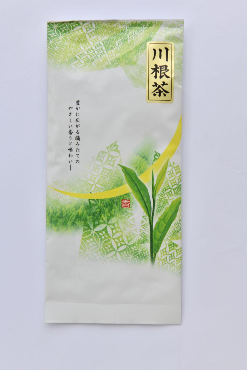 静岡八十八夜摘み 川根茶50g 1080円。和菓子によく合う渋み。