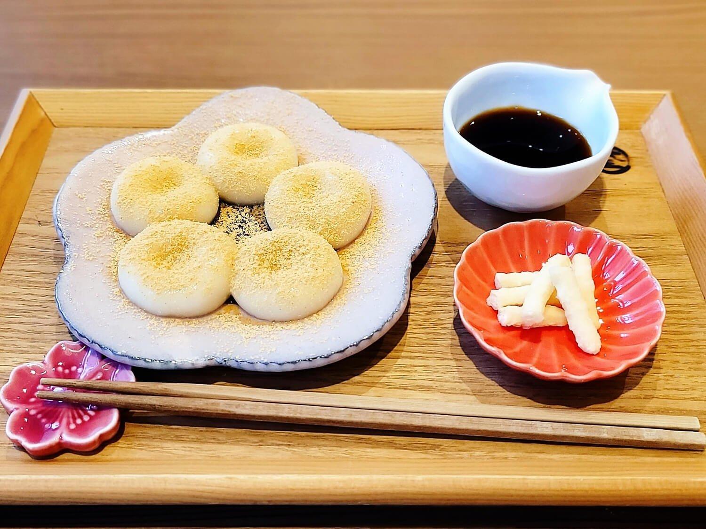 作りたてもちもち白玉〜黒蜜きなこ〜 770円。