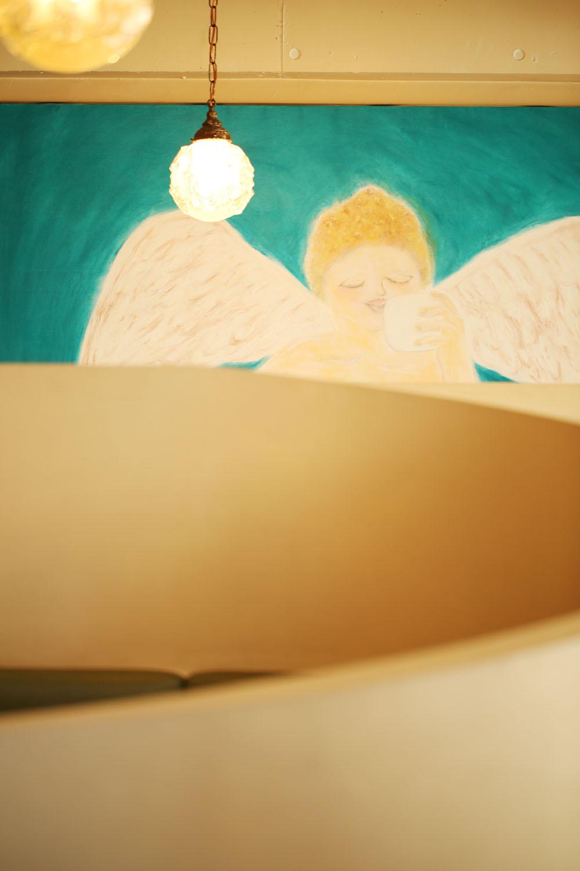 常連の男性が描いた天使。