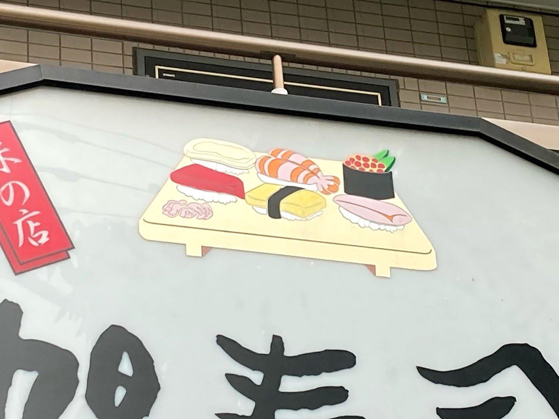 細部は割と凝っているが、全体的に見るとかわいらしい寿司(2021年)。