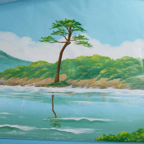 千葉市検見川の銭湯『梅の湯』は、奇跡の一本松のペンキ絵で東北にエールを送る