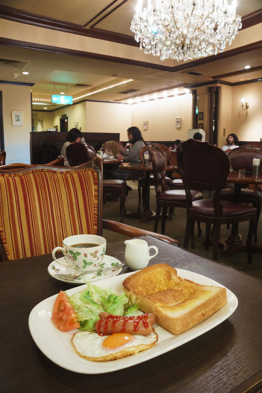 Cセット700円。モーニング500円~は3種あり、コーヒーはお代わり自由。