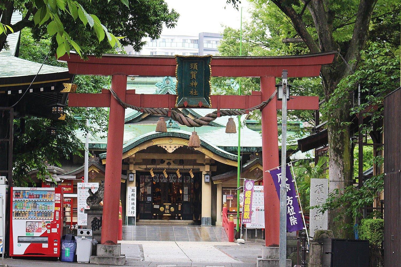 四谷の総鎮守、須賀神社。