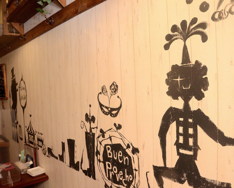 店名にちなみ、壁にはサーカスの花形でもあるピエロやライオンを模したイラストが。来店する子供たちからも大好評だとか。