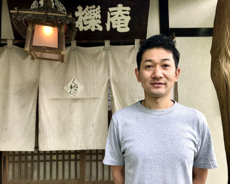 弟子の辻川和也さん。師匠の大河原秀夫さんは「自分は表に出るのが好きじゃないから。写真はご勘弁こうむるよ」とのこと。