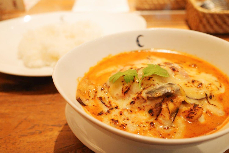 神田チャントーヤココナッツカリー_焼きチーズカリー