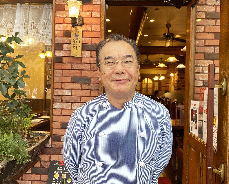 裸一貫でハンバーグ専門店を築き上げた松家健一さん。