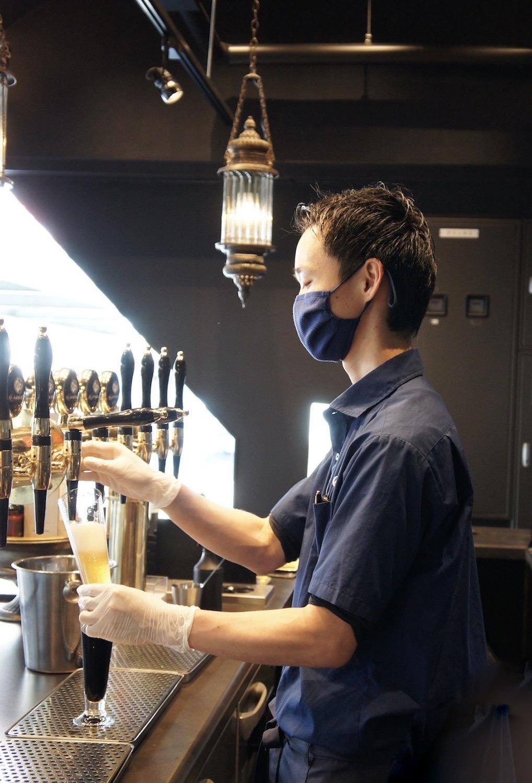 いつでも出来立てのビールを提供する。