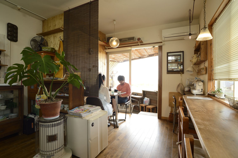 ほんわかとした雰囲気のカフェ。